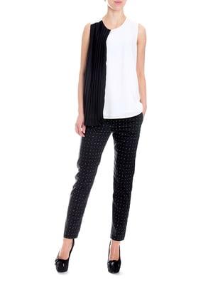 Блуза чорно-біла | 5619384