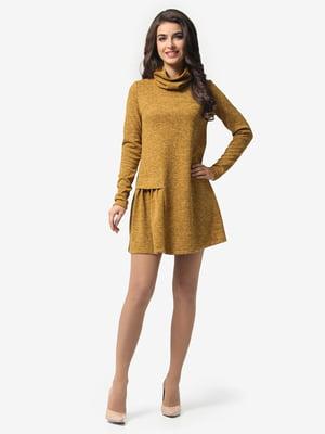 Платье горчичного цвета   5620705