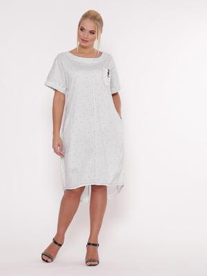 Платье белое в мелкий принт | 5108922