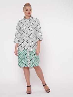 Сукня біла з принтом | 5108933