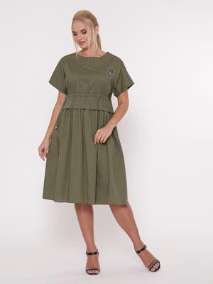 Платье цвета хаки | 5108947