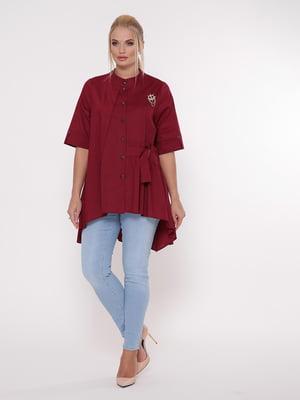 Блуза бордовая | 5108997
