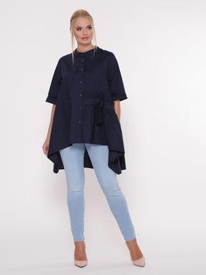 Блуза темно-синяя | 5108998