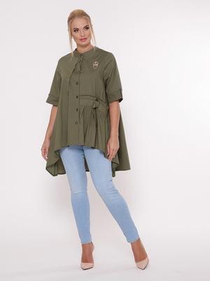 Блуза цвета хаки | 5108999