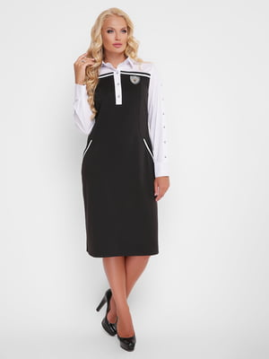 Платье черно-белое | 5109031