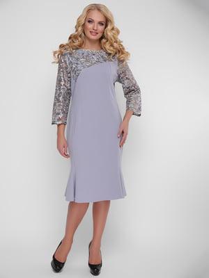 Платье серо-сиреневое | 5109040