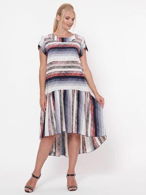 Платье комбинированной расцветки   5109078