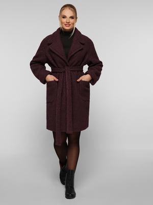 Пальто темно-фіолетове | 5224199