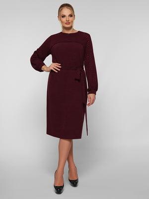 Платье бордовое   5254558