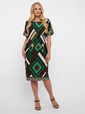 Платье разноцветное в ромбы | 5483517