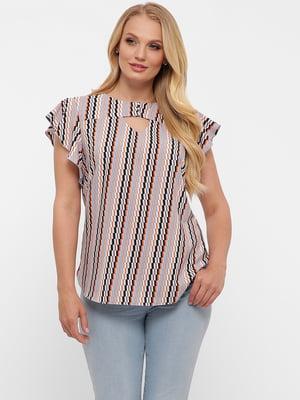 Блуза в зигзагообразную полоску | 5483523