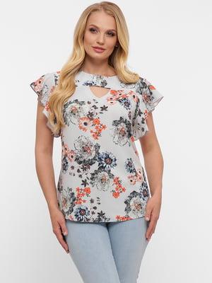 Блуза в цветочный принт | 5483524