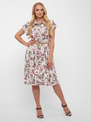 Сукня біла у квітковий принт | 5483530