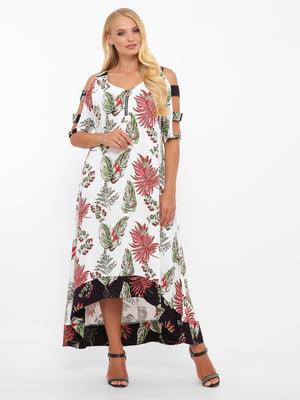 Сукня біла у принт | 5533641