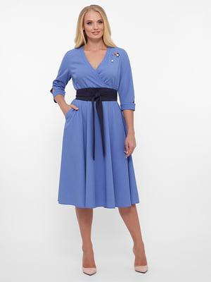 Платье синее в крапинку | 5576823