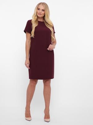 Платье бордовое   5592159