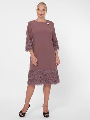 Сукня темно-бузкового кольору | 5621730