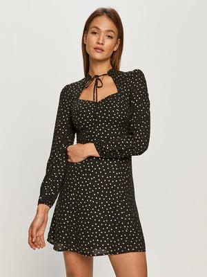 Платье черное в горошек | 5622223