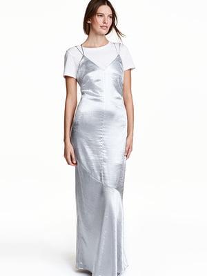 Платье серебристое | 5622026