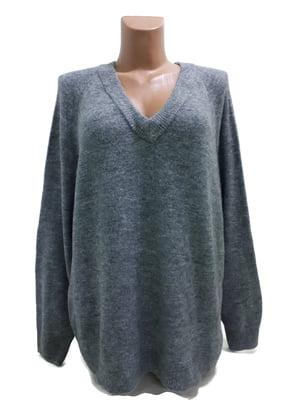 Пуловер темно-серый | 5622084