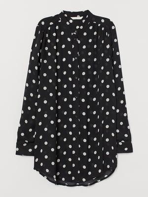 Блуза черная в горох | 5622243
