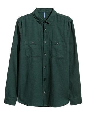 Рубашка темно-зеленая | 5622453