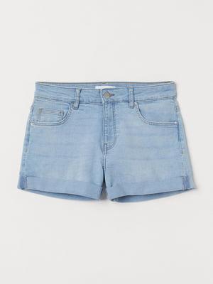 Шорты голубые джинсовые | 5622559