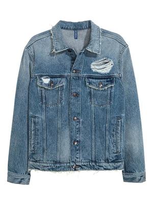 Куртка блакитна джинсова | 5622595
