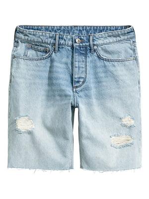 Шорты голубые джинсовые | 5622626