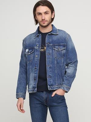 Куртка синя джинсова | 5622672