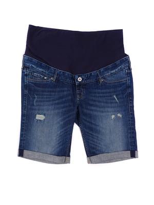 Шорты синие джинсовые для беременных | 5622861