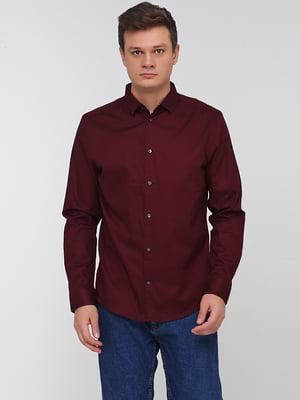 Рубашка темно-бордовая | 5622961