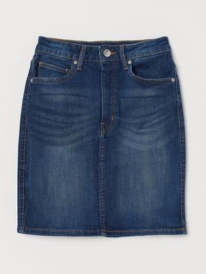 Юбка синяя джинсовая | 5623156