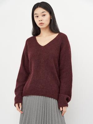Пуловер бордовый   5619488