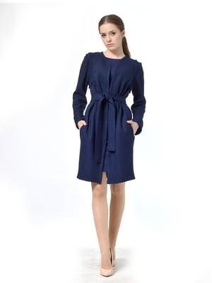 Пальто синее | 5620398