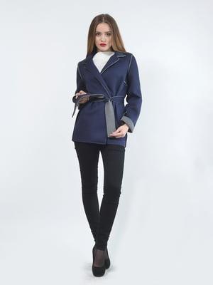 Куртка-жакет синя | 5620400