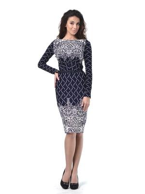 Сукня синя з орнаментом | 5620433