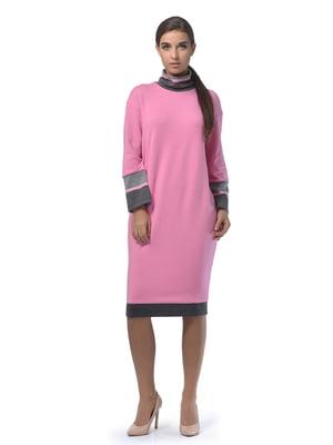 Платье розового цвета в полоску | 5620473