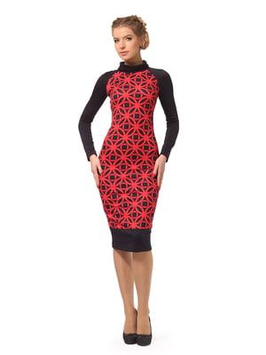 Сукня чорна з геометричним принтом | 5620547