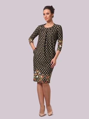 Сукня в квітковий принт і в ромби | 5620593