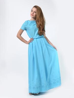 Сукня блакитного кольору | 5620631