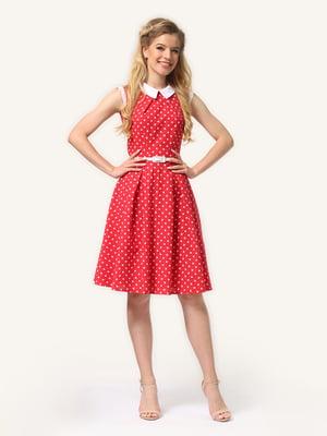Сукня червоного кольору в горошок | 5620728