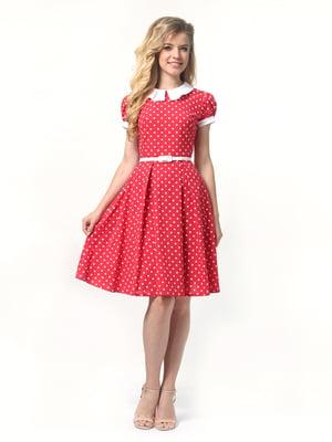 Сукня червоного кольору в горошок | 5620737