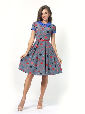 Сукня синя в горошок | 5620738