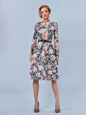 Платье в цветочный принт | 5620804