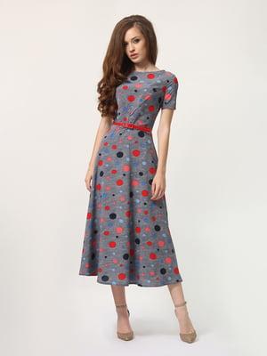 Платье серое в горошек | 5621044