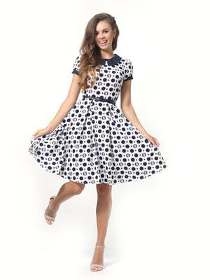 Сукня молочного кольору в горошок | 5620739