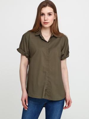 Рубашка цвета хаки | 5624445
