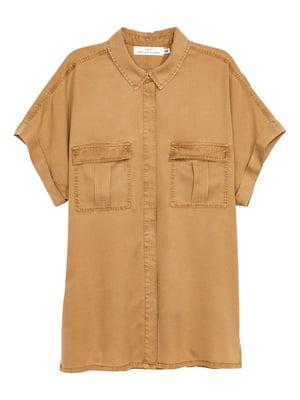 Рубашка горчичного цвета | 5624469