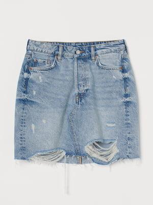 Спідниця синя джинсова   5624625